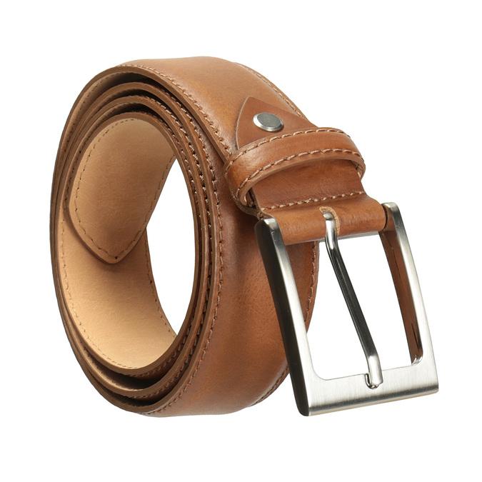 Hnedý pánsky kožený opasok bata, hnedá, 954-4153 - 13