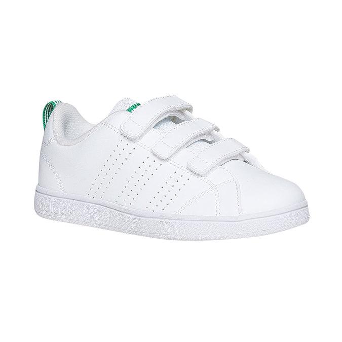 Detské biele tenisky na suchý zips adidas, biela, 301-1168 - 13
