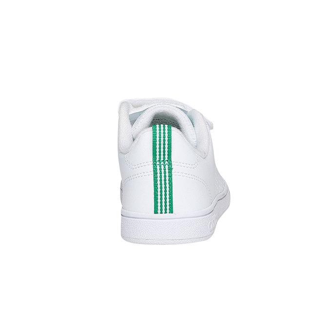 Detské biele tenisky na suchý zips adidas, biela, 301-1168 - 17