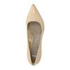 Kožené dámske lodičky pillow-padding, béžová, 626-8635 - 19
