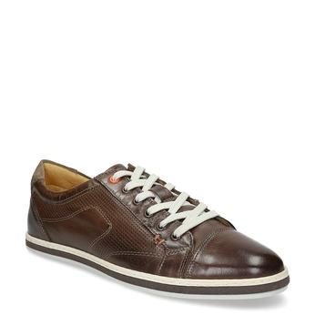 Kožené pánske tenisky bata, hnedá, 846-4617 - 13