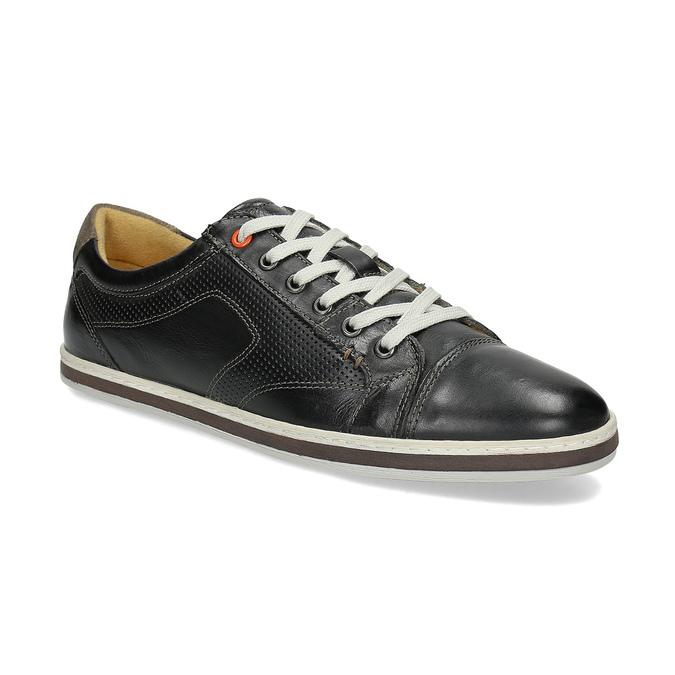 Pánske kožené tenisky bata, čierna, 846-6617 - 13