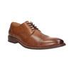 Hnedé kožené poltopánky v Derby strihu bata, hnedá, 826-3812 - 13