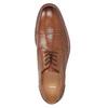Hnedé kožené poltopánky v Derby strihu bata, hnedá, 826-3812 - 17