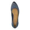 Perforované lodičky na platforme bata, modrá, 626-9638 - 19