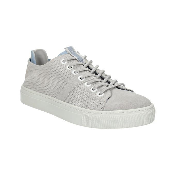 Dámske kožené tenisky bata, šedá, 523-2601 - 13