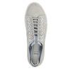 Dámske kožené tenisky bata, šedá, 523-2601 - 19