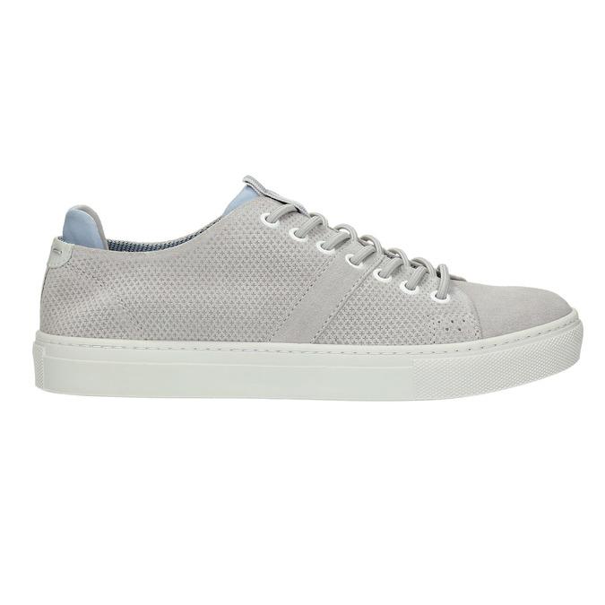 Dámske kožené tenisky bata, šedá, 523-2601 - 15