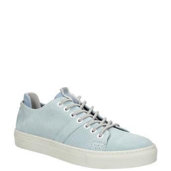 Kožené dámske tenisky bata, modrá, 523-9601 - 13