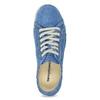 Ležérne kožené poltopánky weinbrenner, modrá, 546-9603 - 17