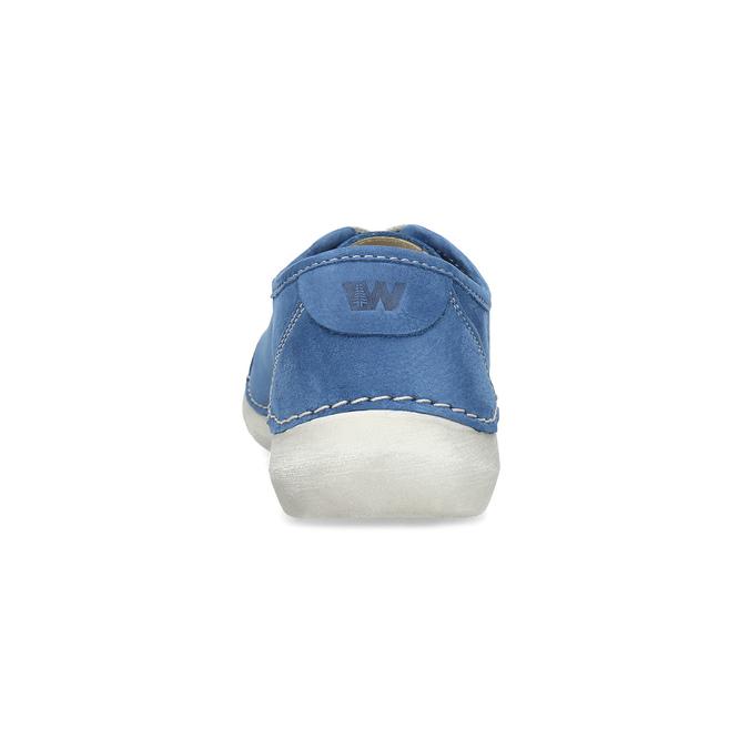Ležérne kožené poltopánky weinbrenner, modrá, 546-9603 - 15