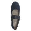 Modré kožené lodičky šírky H bata, modrá, 623-9600 - 15