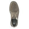 Pánske neformálne poltopánky z brúsenej kože bata, šedá, 853-2612 - 15