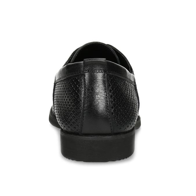 Kožené poltopánky s perforáciou bata, čierna, 854-6601 - 15