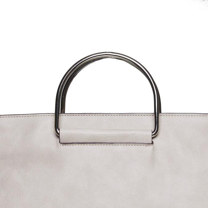 Krémová dámska kabelka bata, šedá, 961-8327 - 17