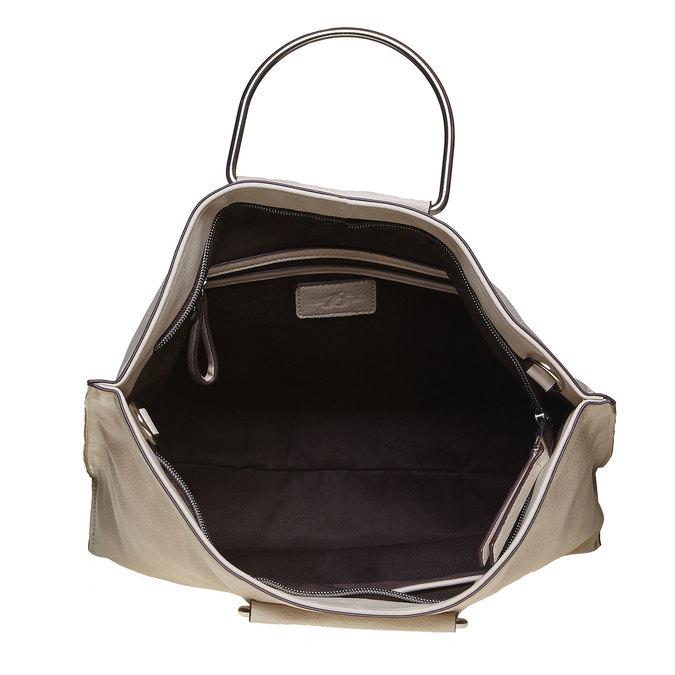 Krémová dámska kabelka bata, šedá, 961-8327 - 15