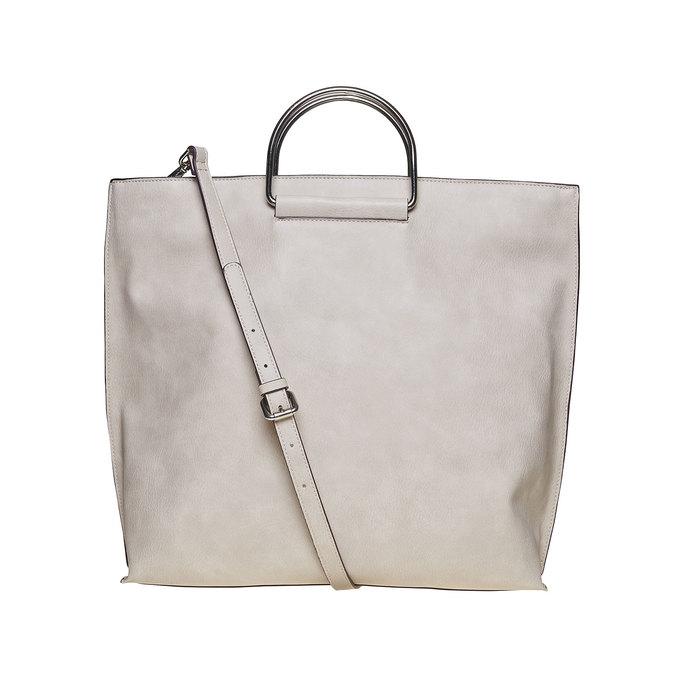 Krémová dámska kabelka bata, šedá, 961-8327 - 26