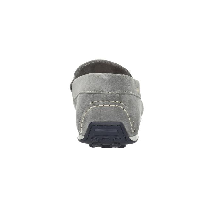 Pánske mokasíny z brúsenej kože bata, šedá, 853-2614 - 17