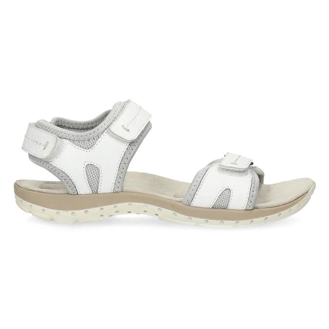 Kožené dámske sandále v Outdoor štýle weinbrenner, biela, 566-1608 - 19