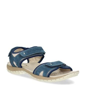 Kožené sandále v Outdoor štýle weinbrenner, modrá, 566-9608 - 13