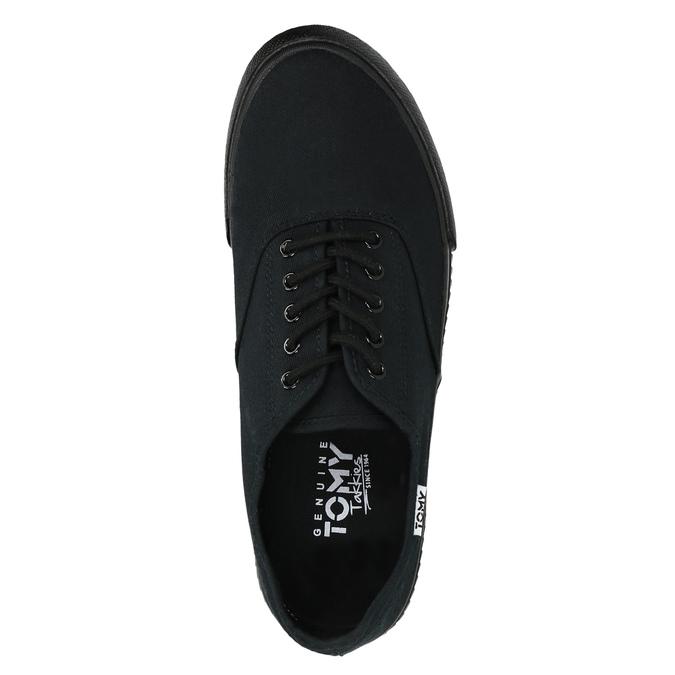 Čierne pánske tenisky tomy-takkies, čierna, 889-6227 - 19