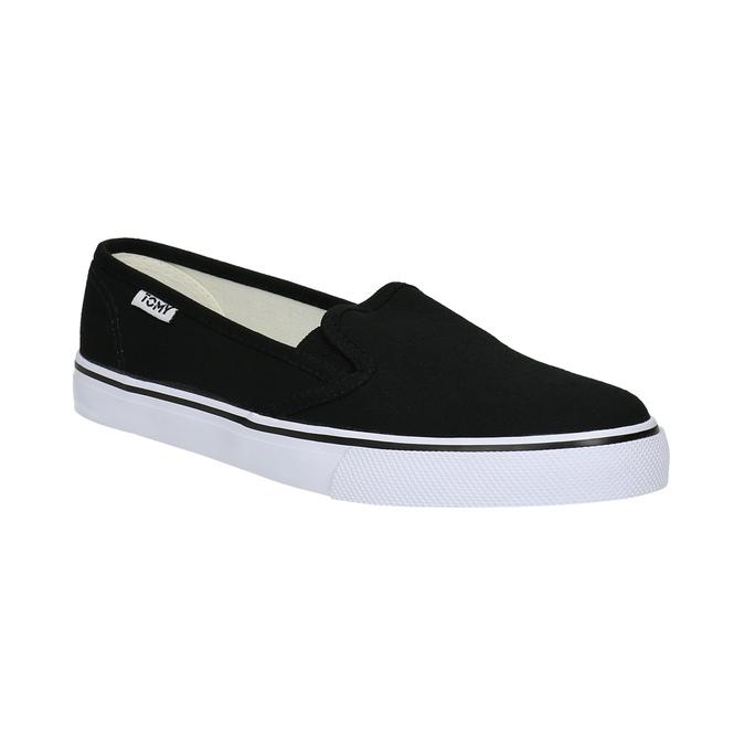 Čierne dámske Slip-on tomy-takkies, čierna, 589-6170 - 13