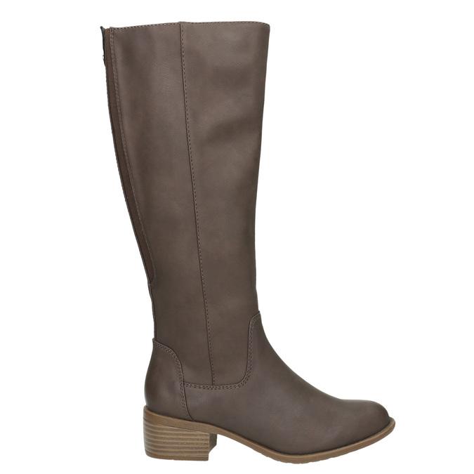 Dámske čižmy na nízkom podpätku bata, hnedá, 691-4600 - 15
