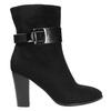 Dámska členková obuv s prackou bata, čierna, 699-6630 - 15