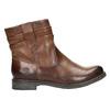 Kožená členková obuv ve Western štýle bata, hnedá, 594-4611 - 15