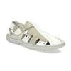 Pánske svetlé kožené sandále bata, biela, 866-1622 - 13