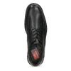 Čierne pánske kožené poltopánky s guľatou špičkou fluchos, čierna, 824-6451 - 17