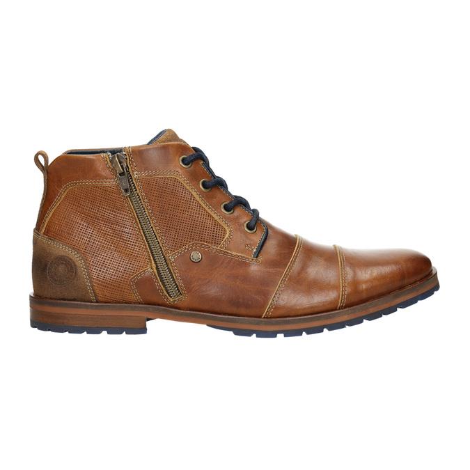 Kožená členková obuv so zipsom bata, hnedá, 826-3911 - 15