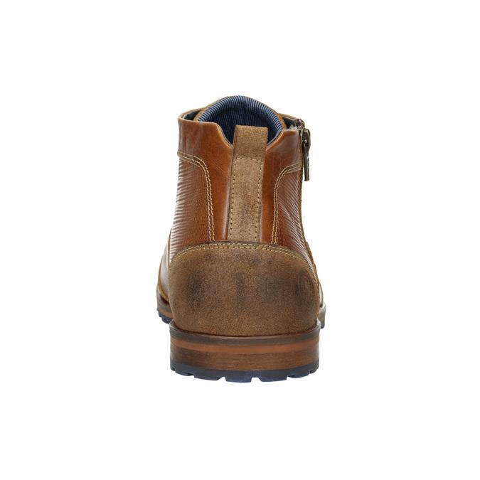Kožená členková obuv so zipsom bata, hnedá, 826-3911 - 17