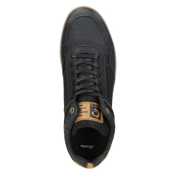 Členkové pánske tenisky z kože bata, čierna, 846-6641 - 26