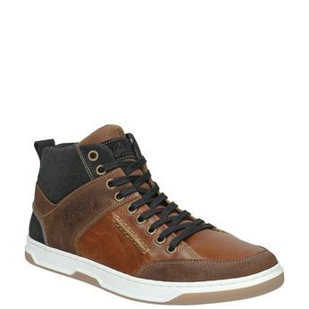 Kožené členkové tenisky bata, hnedá, 846-3640 - 13