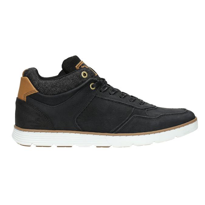 Členkové pánske tenisky z kože bata, čierna, 846-6641 - 15