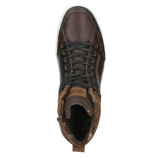 Kožené členkové tenisky bata, hnedá, 846-4640 - 26