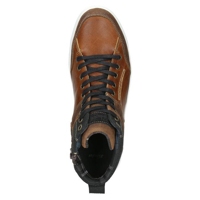 Kožené členkové tenisky bata, hnedá, 846-3640 - 26
