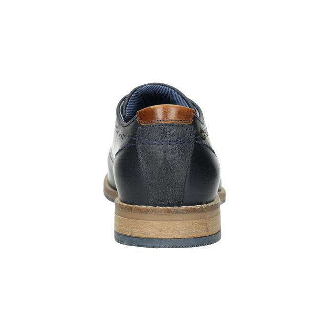 Neformálne kožené poltopánky bata, modrá, 826-9910 - 17