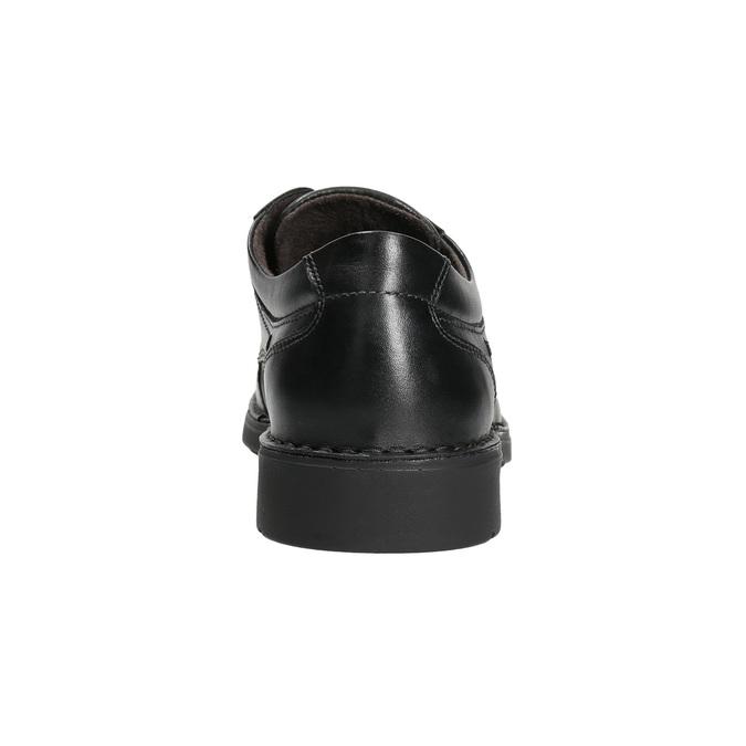 Kožené ležérne poltopánky s prešitím comfit, čierna, 824-6987 - 17