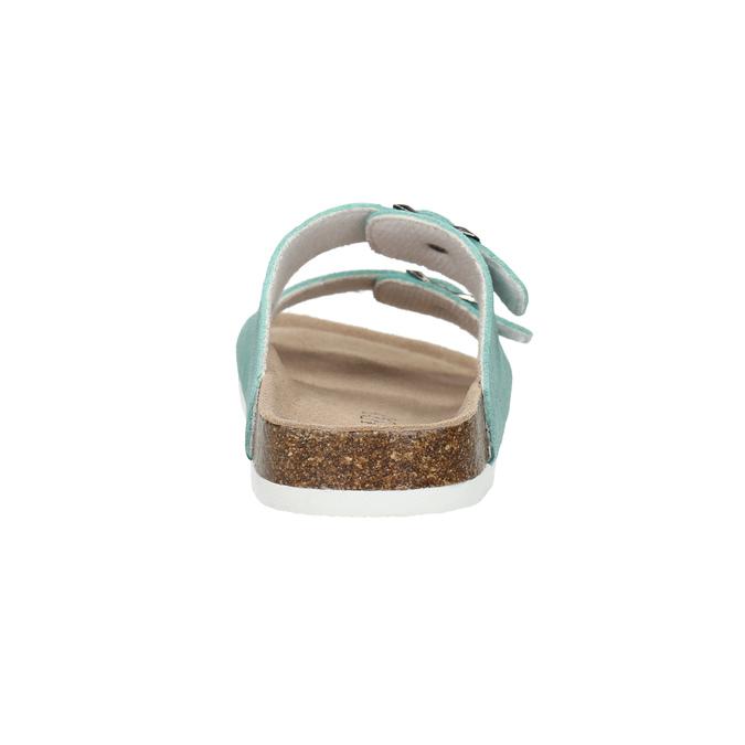 Modré kožené papuče de-fonseca, 573-7621 - 17