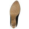 Kožené lodičky na platforme pillow-padding, čierna, 726-6646 - 19