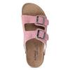 Kožená dámska domáca obuv de-fonseca, ružová, 573-5621 - 17