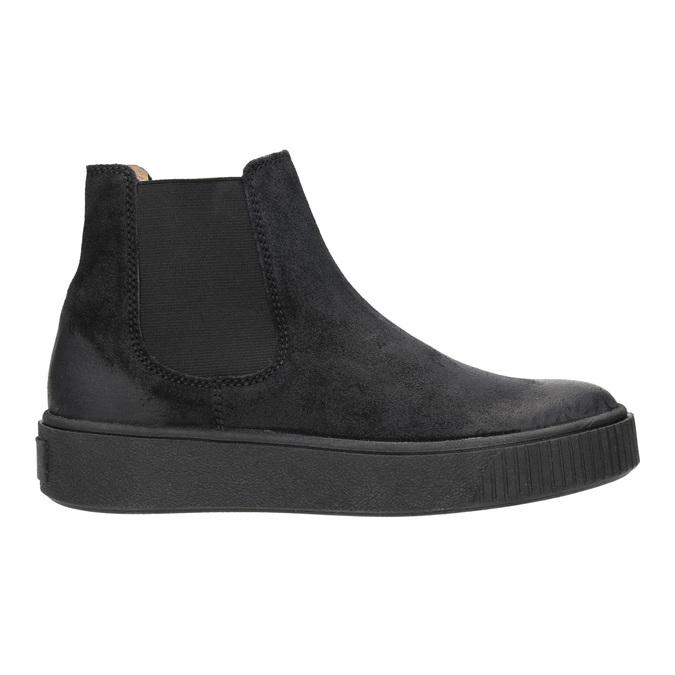 Dámska kožená členková obuv bata, čierna, 596-6671 - 26