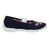 Domáca obuv s kvietkami mini-b, modrá, 379-9215 - 15