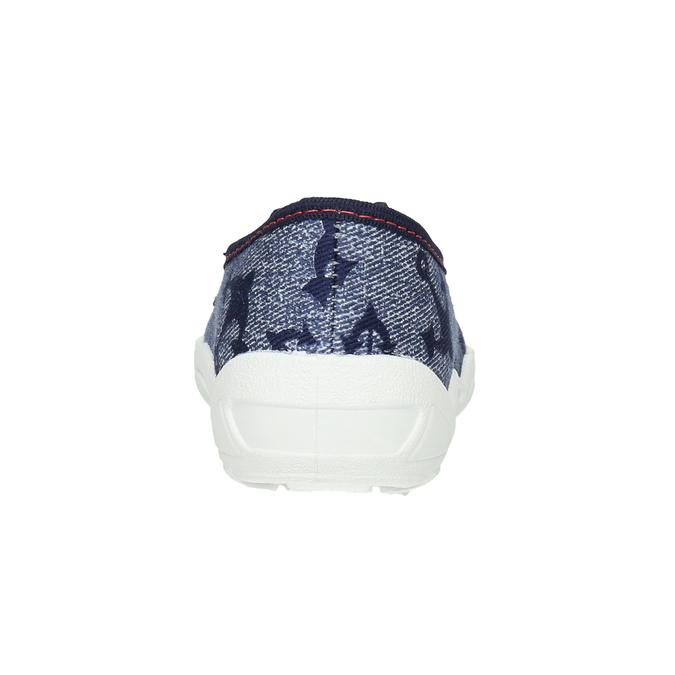 Detská domáca obuv s kotvou mini-b, modrá, 379-2213 - 17
