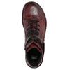 Dámska kožená členková obuv bata, červená, 596-5656 - 26