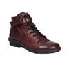 Dámska kožená členková obuv bata, červená, 596-5656 - 13