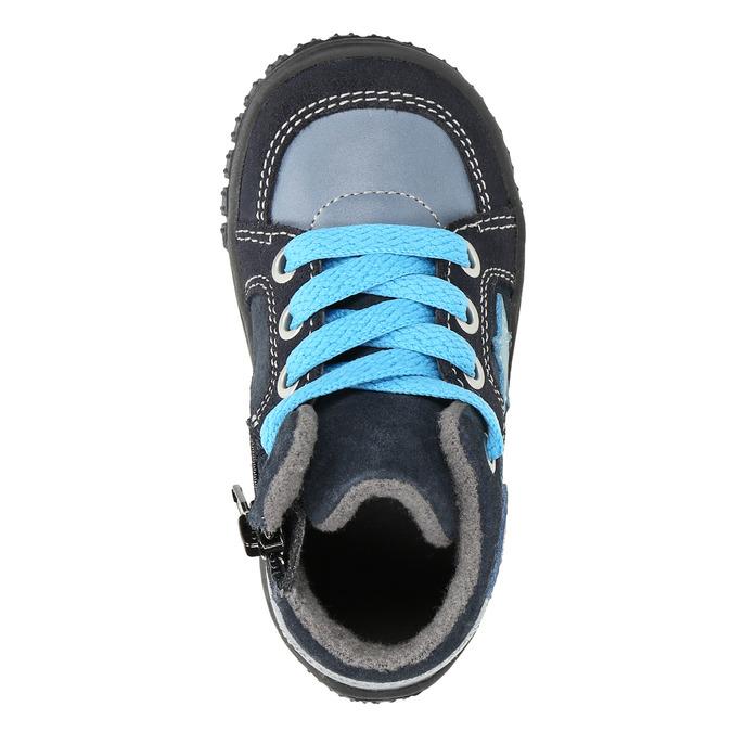 Kožené chlapčenské tenisky bubblegummers, modrá, 113-9601 - 19