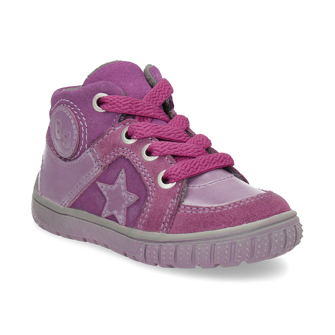 Dievčenská členková kožená obuv bubblegummers, ružová, 123-5601 - 13